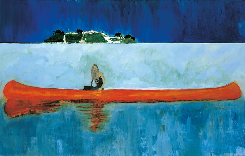 Peter Doig wrote an article on paper for new york times describing his search for inspiration.