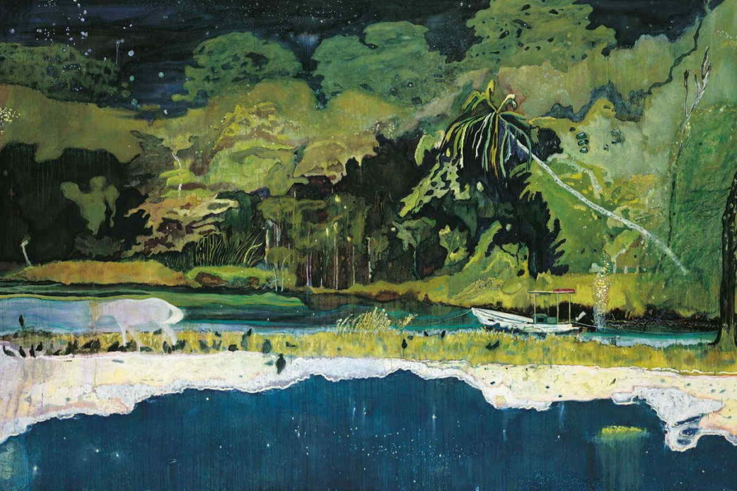 Peter Doig was also featured in the chicago news regarding his work on paper.