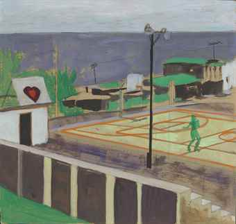 Peter Doig-Study for Heart of Old San Juan-1999