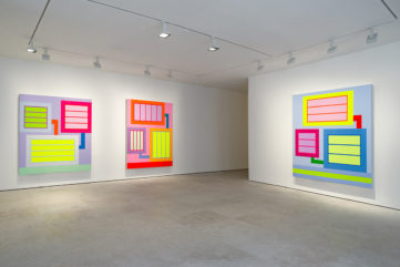 Peter Halley, New Paintings installation view at Maruani Mercier Brussels