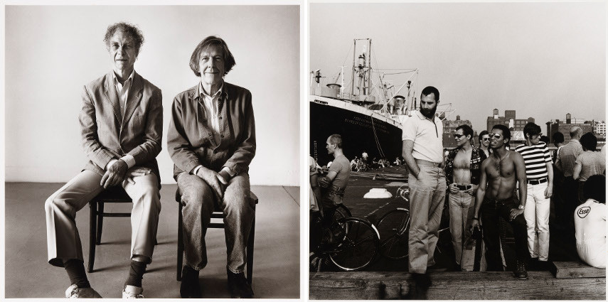Peter Hujar - Merce Cunningham and John Cage Seated - Peter Hujar - Christopher Street Pier #4
