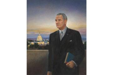Peter Hurd - Lyndon Baines Johnson, Tempera on wood, 1967