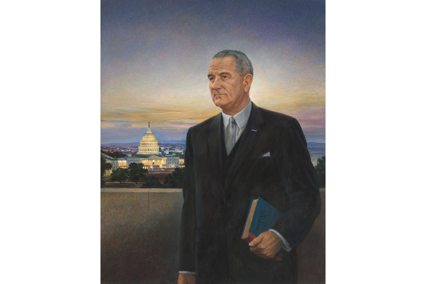 Peter Hurd - Lyndon Baines Johnson, Tempera on wood, 1967