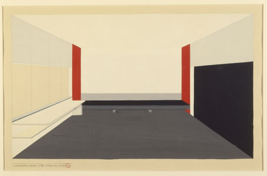 Peter Keler - Design for the Moholy - Nagy Atelier, 1924 - image via bauhaus-online.de