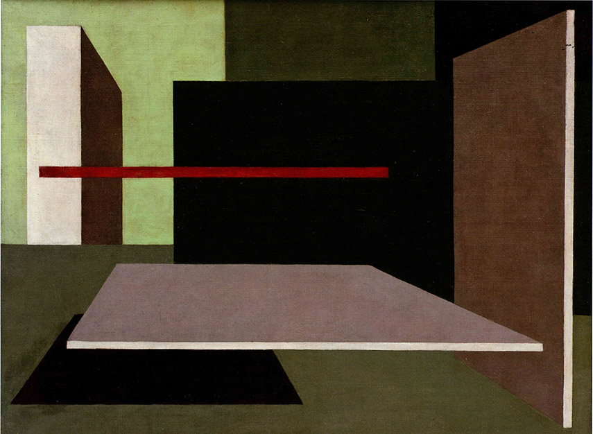 Peter Keler - Wall - Painting Scheme for Laszlo Moholy - Nagy's Studio, 1925 - image via thecharnelhouse.org
