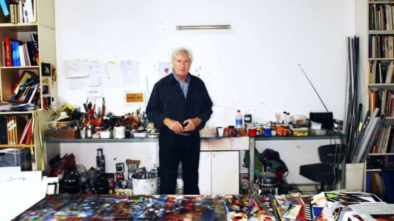Peter Klasen in his studio, photo credit Xavier Martin