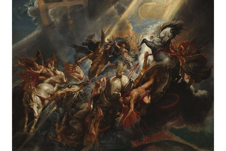 Peter Paul Rubens - The Fall of Phaeton, c. 1604-1605 (National Gallery of Art), on death of Phaeton, on view at The National Gallery of Art
