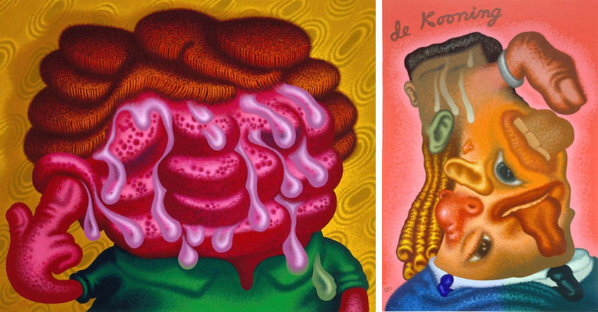 Peter Saul new arts paintings on view at whitney museum and gallery, like for information on facebook