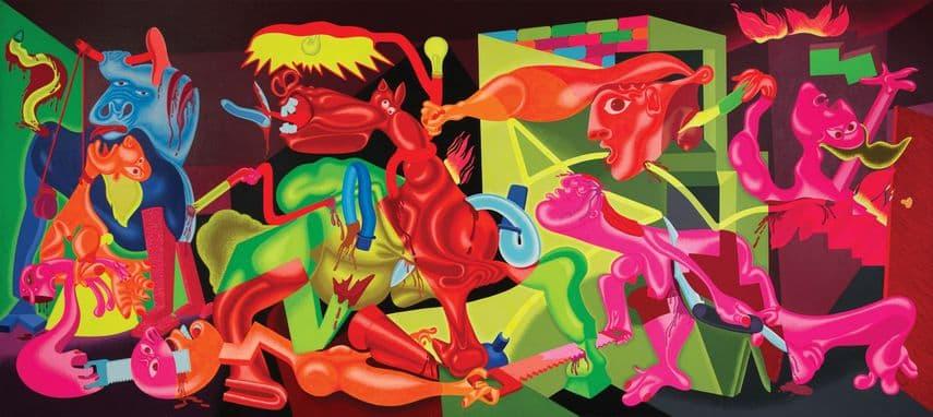 Peter Saul - Saul's Guernica, 1974