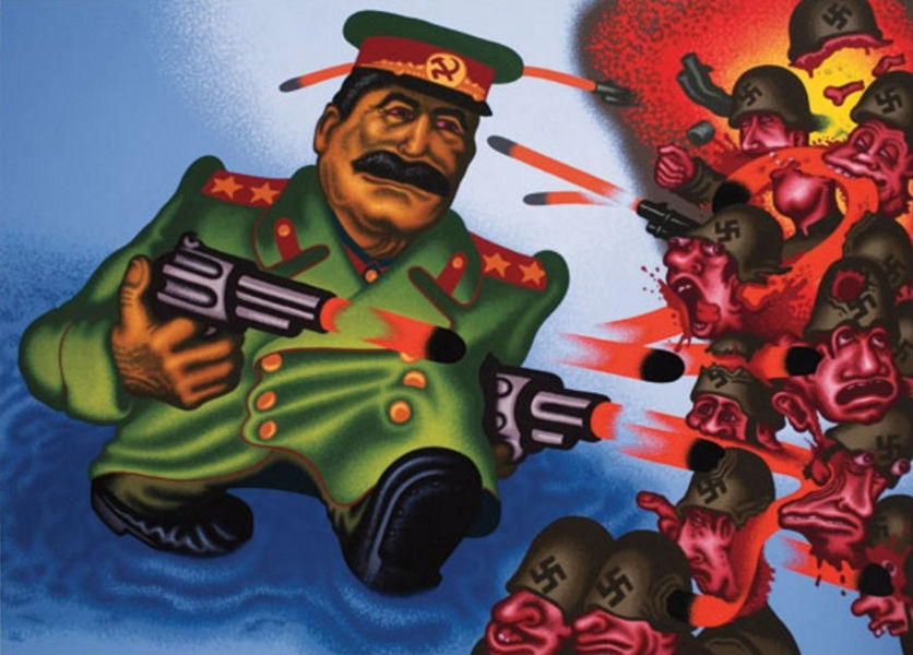 Peter Saul paintings can be viewed in a museum