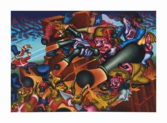 Peter Saul-The Alamo-1990