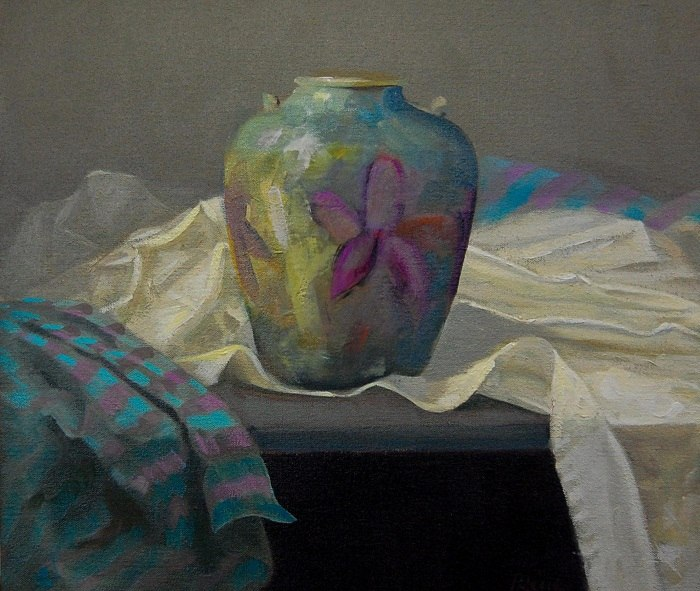 Petra Reece - Still Life With Pottery, 2015