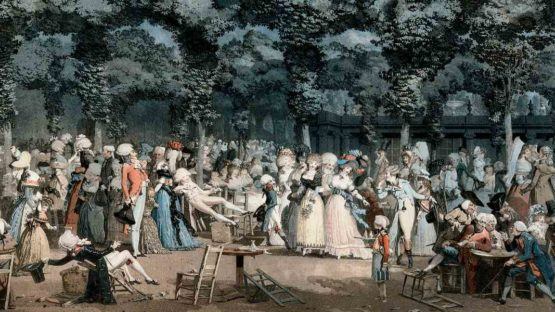 Philibert-Louis Debucourt - The Public Promenade (La Promenade Publique), 1792