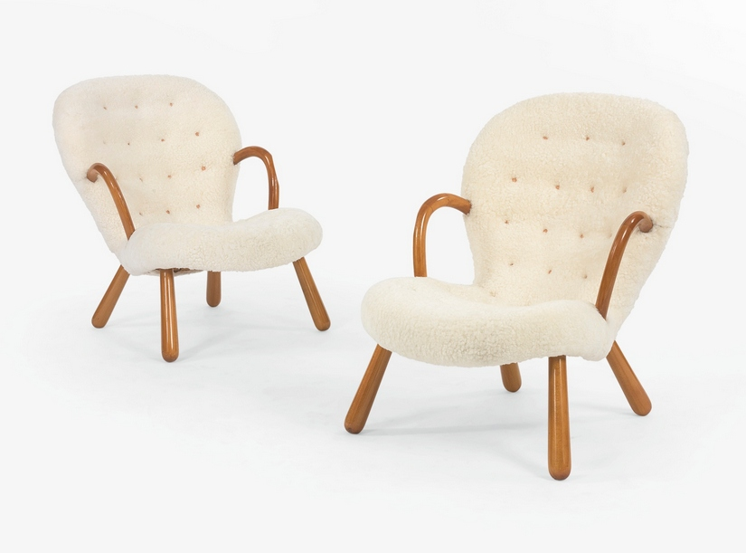 Philip Arctander - Pair Of Clam Armchairs-1944