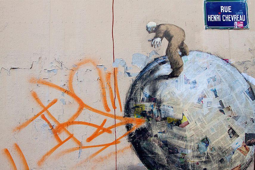 Philippe Herard - Mural at Rue Henri Chevreau