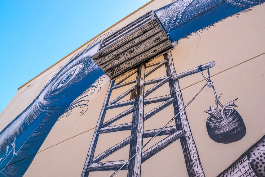 Phlegm - A Mural in Jacksonville, Florida (detail), 2016 - Image courtesy of Iryna Kanishcheva