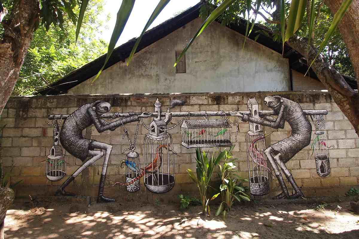 Phlegm caged birds widewalls for Art decoration sri lanka