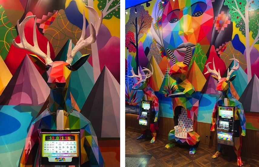 Photo, Deer sculpture, Okuda, Deer sculptures