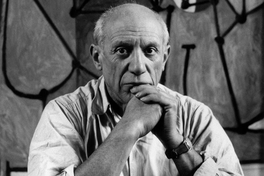 Photo of Pablo Picasso who loved having women at his home