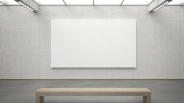 Photo of an Empty Gallery Wall - Image via alteregogallery