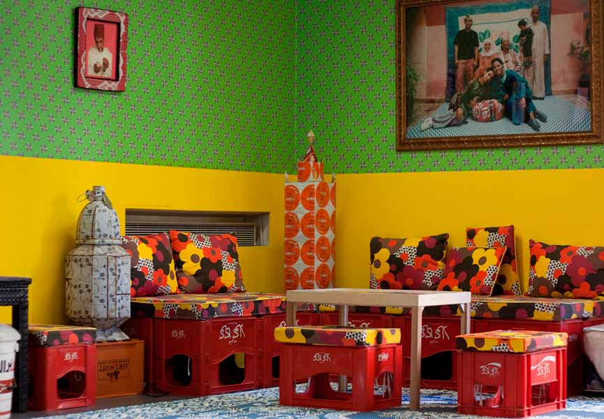 Hassan Hajjaj, Installation 'Le Salon' Institut des Cultures d'Islam, Paris, 2010, courtesy of the artist