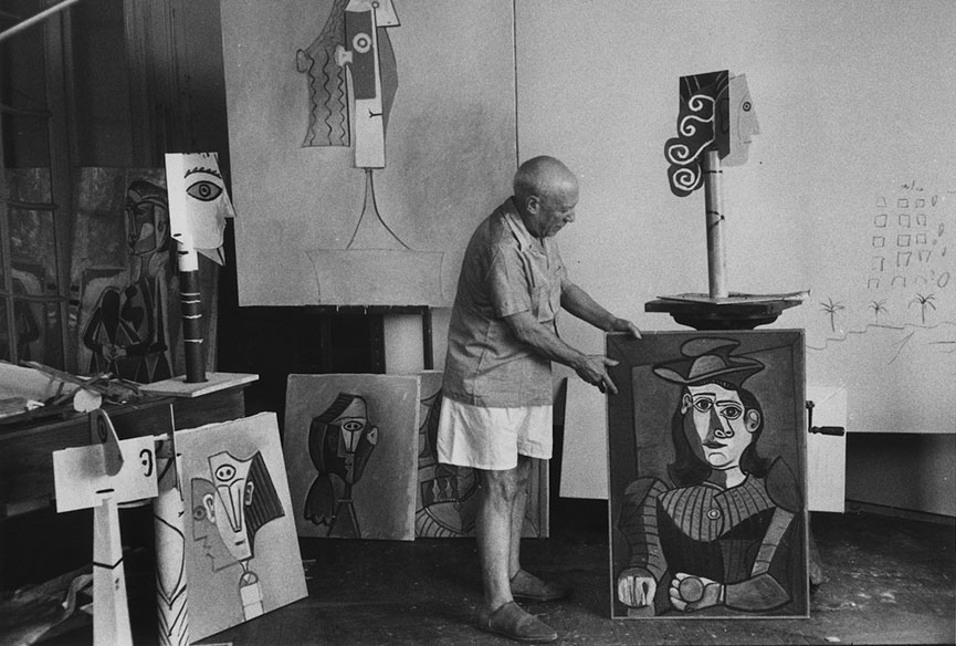 Picasso in Cannes, 1957