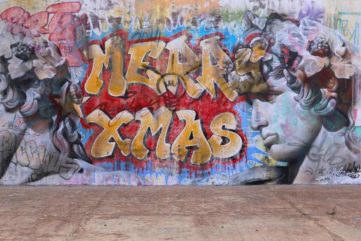 We Wish You A Merry Street Art Christmas