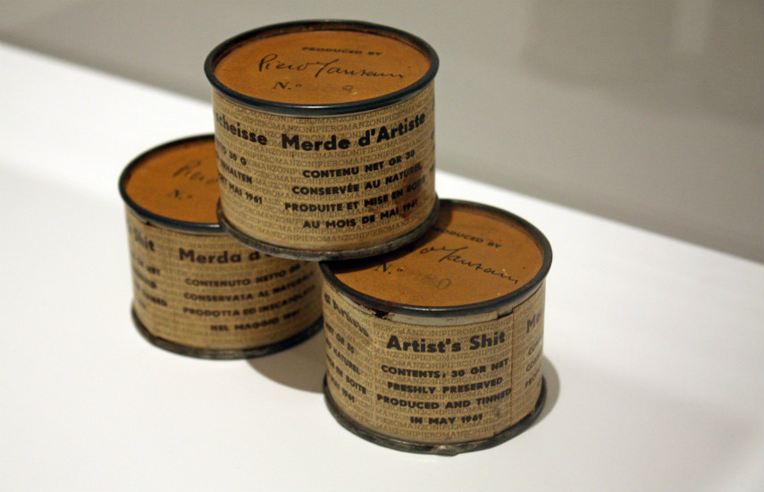 Piero Manzoni - Artists shit, 1961, photo via alux.com works view 1961 visit