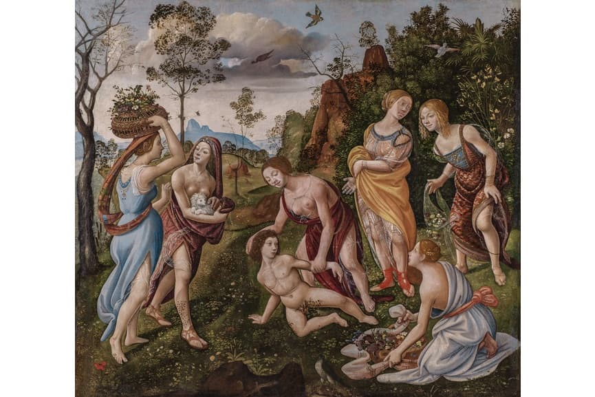 Piero di Cosimo, The Finding of Vulcan on the Island of Lemnos, 1490