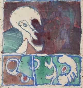 Pierre Alechinsky-Profil haut-1973