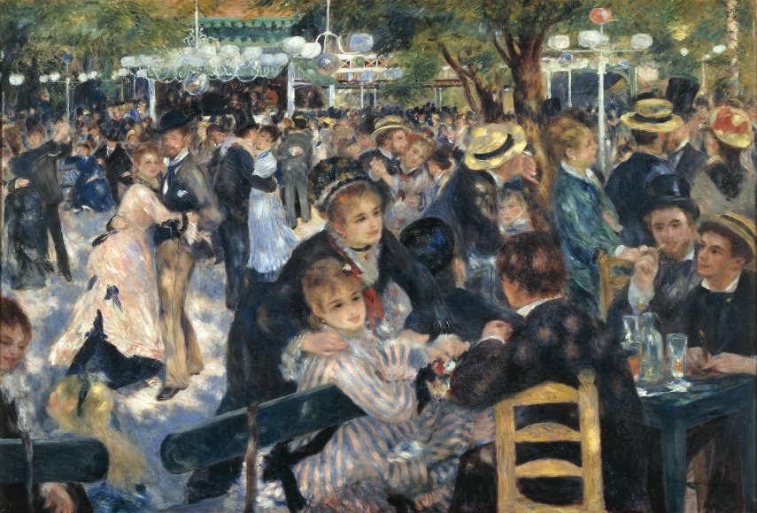 Pierre-Auguste Renoir - Dance at Le Moulin de la Galette, 1876, Image via enwikipediaorg works portrait life century paris claude