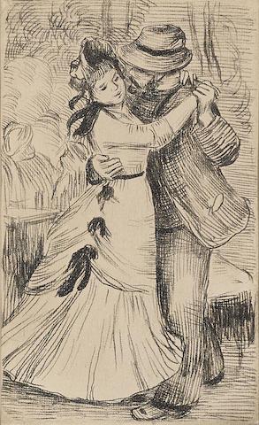 Pierre-Auguste Renoir-La Danse a la Campagne 2e planche-1890