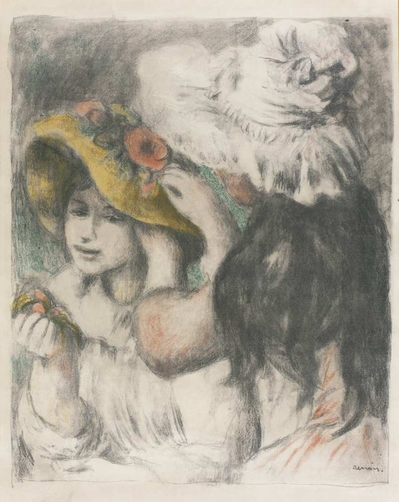 Pierre-Auguste Renoir-Le Chapeau Epingle-1898