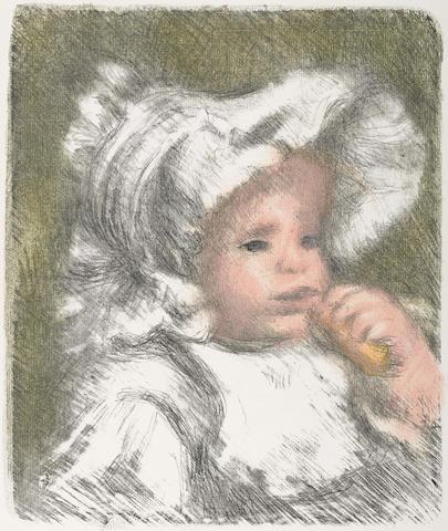 Pierre-Auguste Renoir-L'enfant au Biscuit (Jean Renoir)-