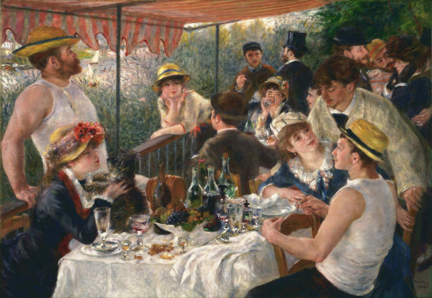Pierre-Auguste Renoir - Luncheon of the Boating Party, 1881, Image via enwikipediaorg