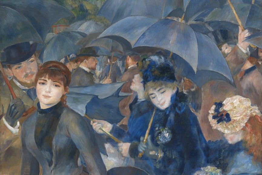 Pierre-Auguste Renoir - The Umbrellas, c.1881-86, detail