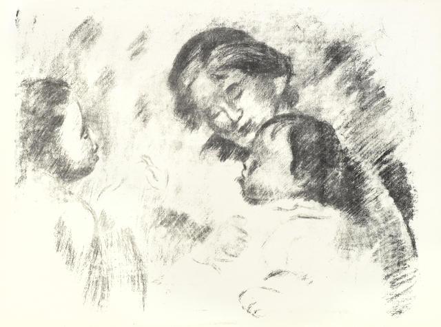 Pierre-Auguste Renoir-Une Mere et Deux Enfants-1905