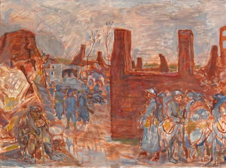 Pierre Bonnard - A Ruined Village Near Ham