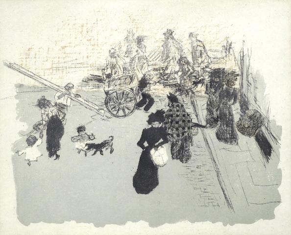 Pierre Bonnard-Coin de rue, from from Quelques aspects de la vie de Paris-1899