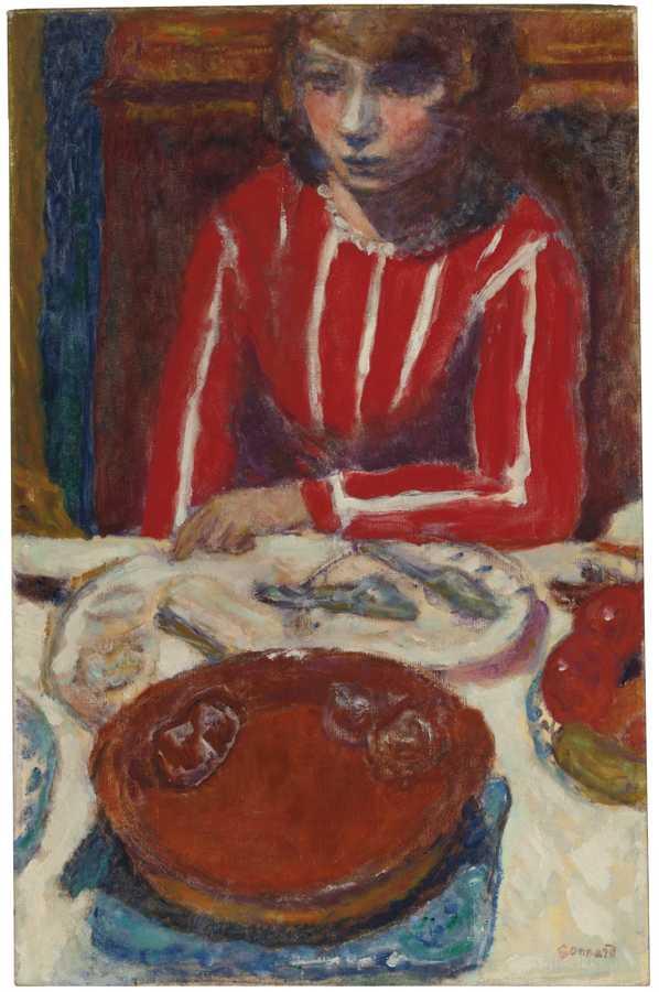Pierre Bonnard-Femme A Table-1923