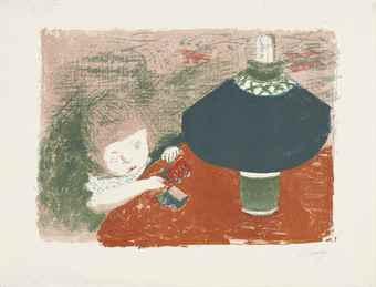 Pierre Bonnard-L'Enfant a la Lampe-1897