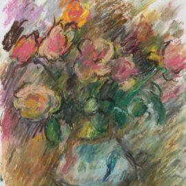 Pierre Gogois-Fleurs au vase bleu