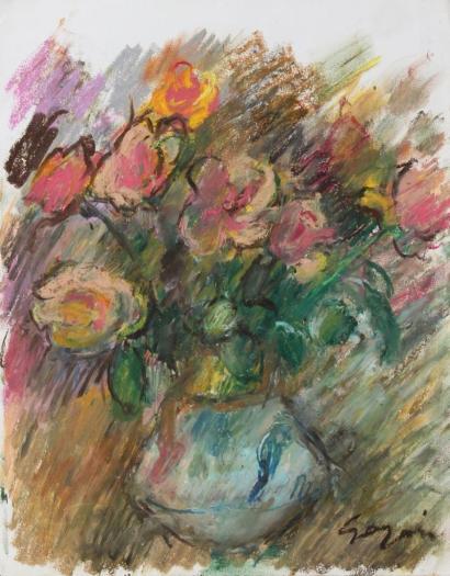 Pierre Gogois-Fleurs au vase bleu-