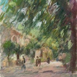 Pierre Gogois-Les palmiers devant l'Orangerie