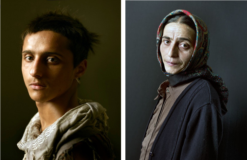 Pierre Gonnord - Adriano, 2010 (left), Elena, 2010 (right) - NOTE: Portraits of 2016 coal miners has not hit the news yet