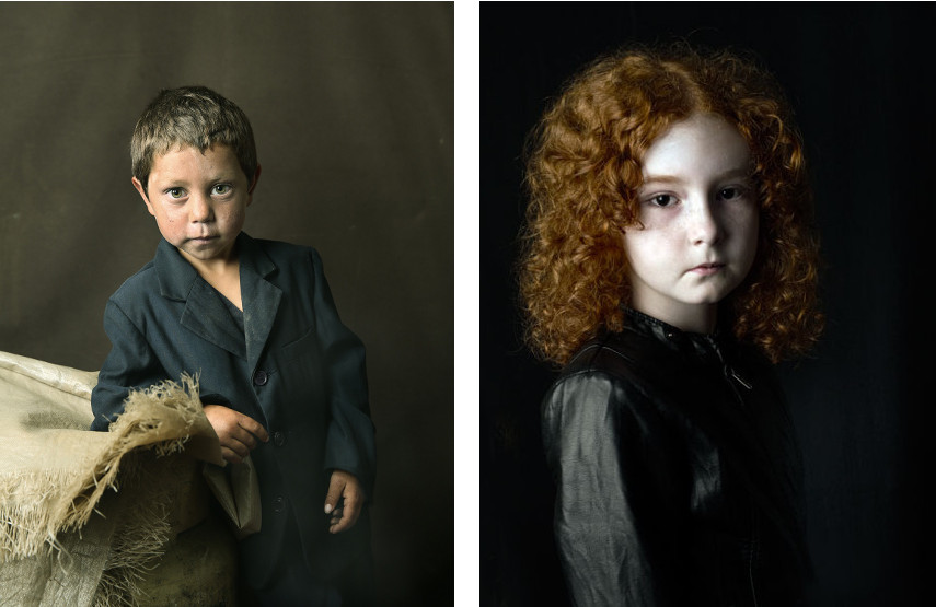 Pierre Gonnord  - Rogiero II, 2014 (left), Charlotte, 2010 (right) -  - NOTE: Portraits of 2016 coal miners has not hit the news yet