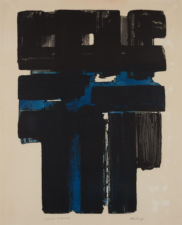 Pierre Soulages-Etching Xa (Eau-forte Xa)-1957