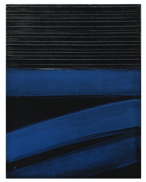 Pierre Soulages-Painting 81 x 63 Cm, 24 Janvier 1997-1997
