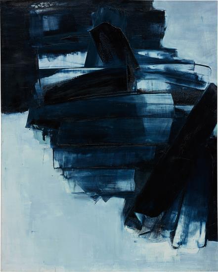 Pierre Soulages-Peinture 162 x 130 cm, 14 Avril 1962-1962