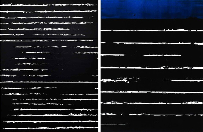 Pierre Soulages and his use of black gave it another meaning, as depicted above